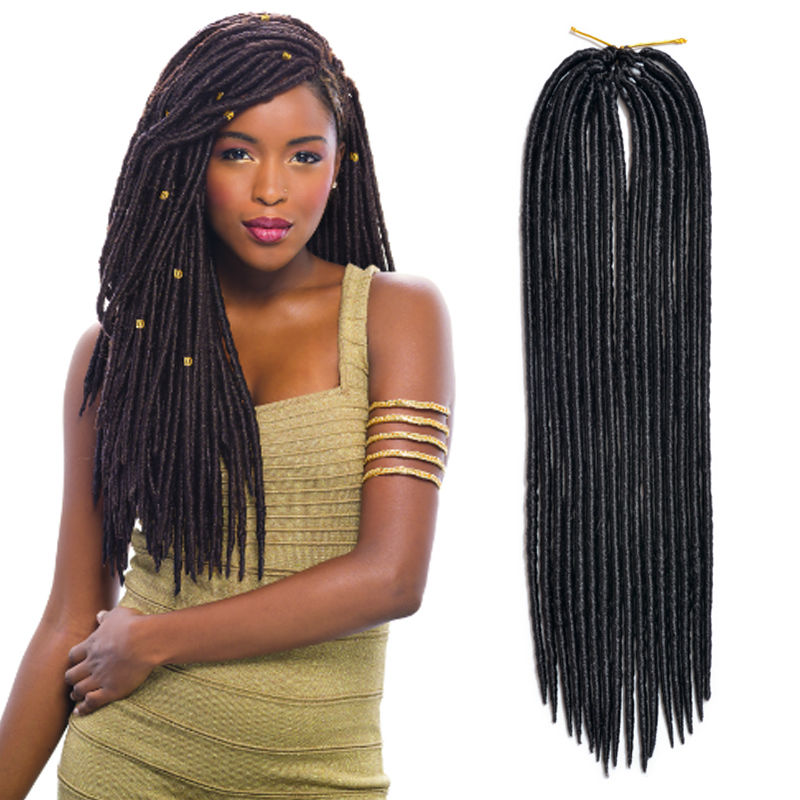 Dreadlocks Braids Crochet Twist Hair Marley Braid Hair Synthetic