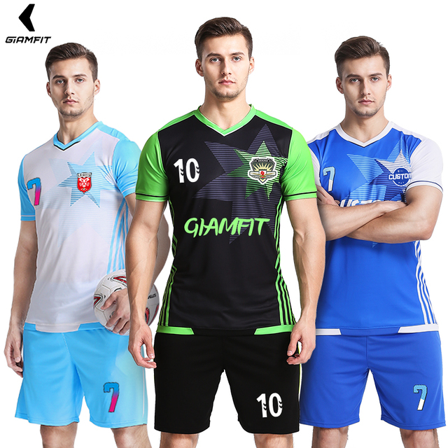 3e09614bf0b Custom Home Away Soccer Jerseys Professional Adults College Survetement  Football Training Uniforms Athletics Running Sportswear