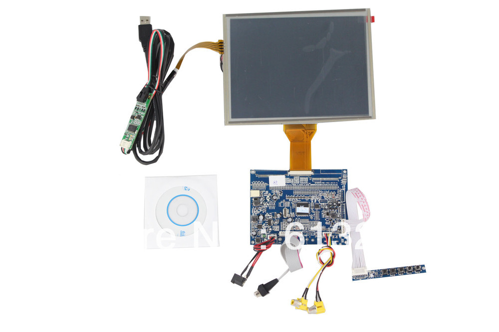 VGA +AV  LCD driver board support 8 inch panel 800*600 with touch panel hdmi vga 2av lcd driver board vs ty2662 v1 71280 800 n070icg ld1 ld4 touch panel