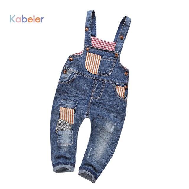 7b7e71be9b05d Jeans Bébé Garçons Pantalon Salopette Enfant Salopette Garçon et Fille De  Mode Vêtements Enfant Costume Infantile