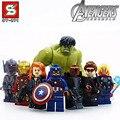 8 шт./лот Лепин Мстители Super Hero Модели и Строительные Блоки Игрушка 4.5 см высота размер