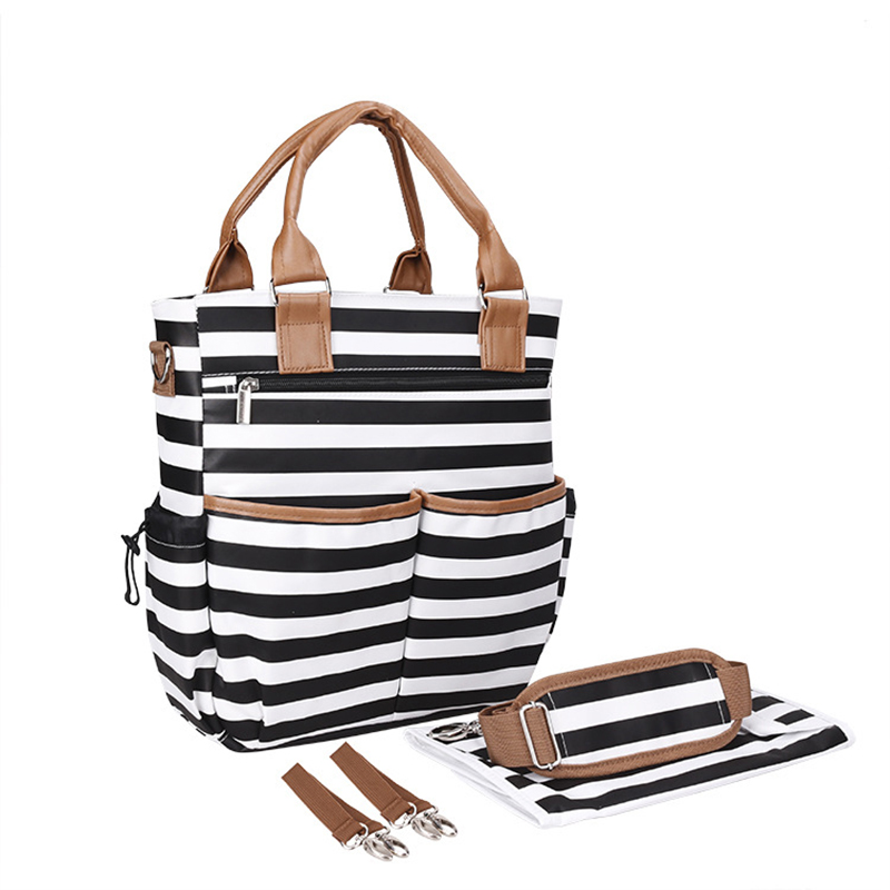 The new Mummy bag fashion multi-functional large capacity mother mother baby bag travel outside the pregnant mommy bag functional capacity of mango leave extracts