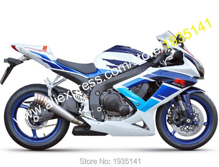 Hot Sales,For Suzuki K8 GSXR600 GSXR750 GSX-R600/750 2008 2009 2010 Blue White Aftermarket Motorbike Fairing (Injection molding)