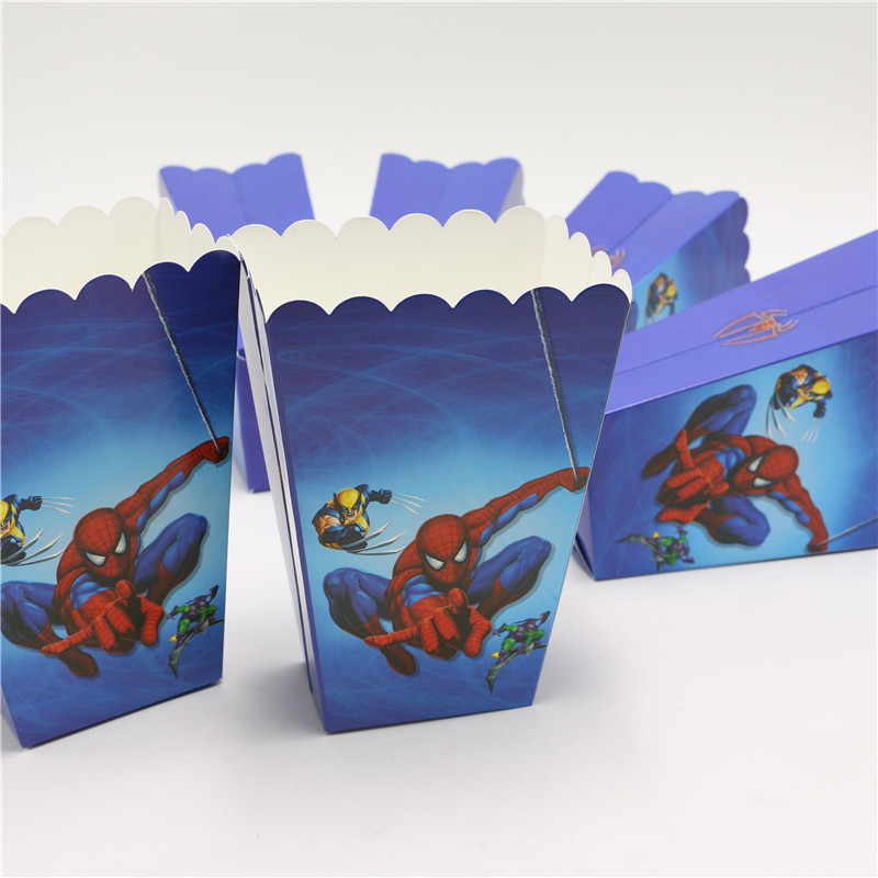 8pcs Lot Movie Spider Man Theme Party Decoration Kids Favor Candy Box Home Theater Treat Party Popcorn Box Containers 1635 Decorative Office Boxes Box Decorbox Oven Aliexpress