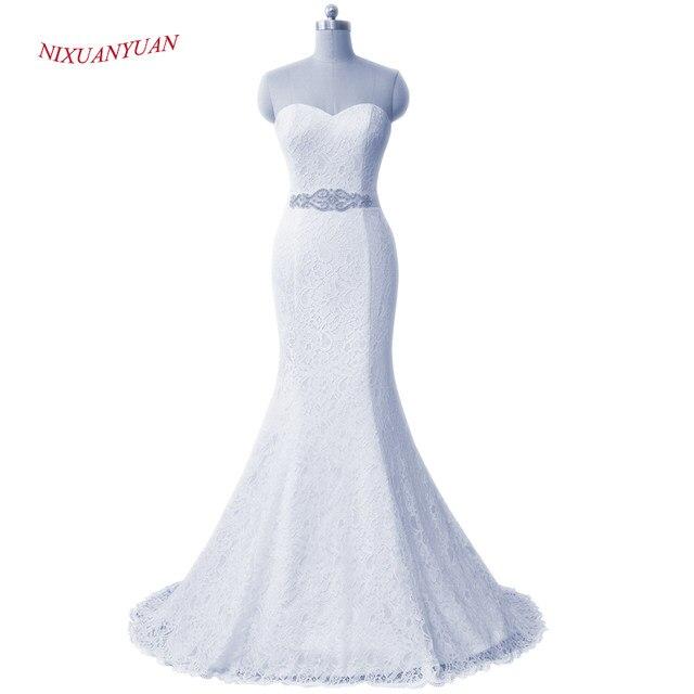 Online Shop NIXUANYUAN 2017 New Elegant White Ivory Lace Wedding ...