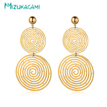 Pendientes Mujer Sale New 2017 Fashion Trendy Hollow Round Vortex Drop Earrings Alloy Material For Women Elegant Design Jewelry