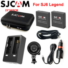 SJCAM SJ6 Legend Accessories Storage Bag Dual Charger Car Charger Suction Cup Holder Battery for SJ CAM SJ6 Sports Action Camera