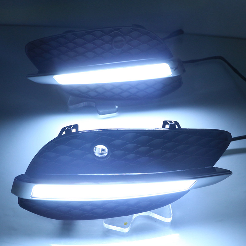 ShenLao 2Pcs LED DRL Daytime Running Lights Front Fog Light Lamp For Mercedes Benz GLC X205 2015 2016 led daylight car stylingShenLao 2Pcs LED DRL Daytime Running Lights Front Fog Light Lamp For Mercedes Benz GLC X205 2015 2016 led daylight car styling