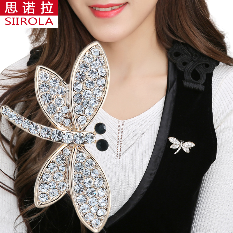 Cristal strass émail Animal Broche Col Broche Femmes Hommes Fashion Jewelry