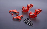 CNC Alloy Front Hub Carrier Front Knuckle Arm Bearing for 1/5 HPI KM Rovan Baja 5B 5T Rc Car Gas Parts