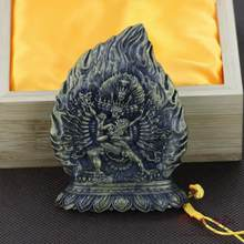 tsa tsa par the Buddha Yamantaka antique handicraft / religious articles / collection of authentic worship(China)
