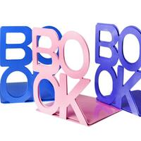 1 Pair Fashion BOOK Tablet Tablature Bookend Metal Book Stand Book Support Holder Desk Stands For