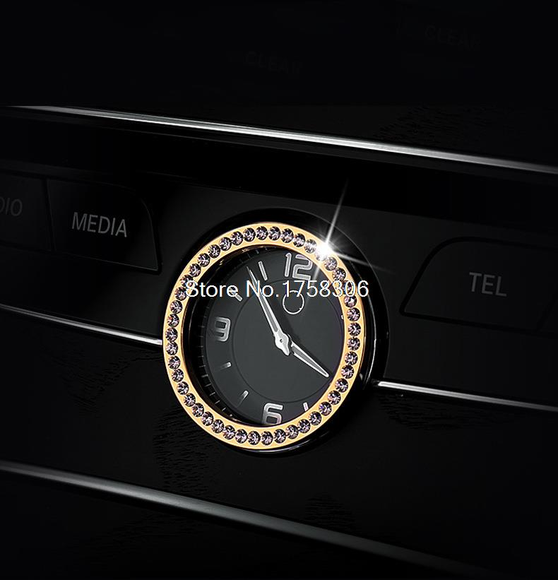 Car console clock watches time decoration ring cover for Mercedes benz watch