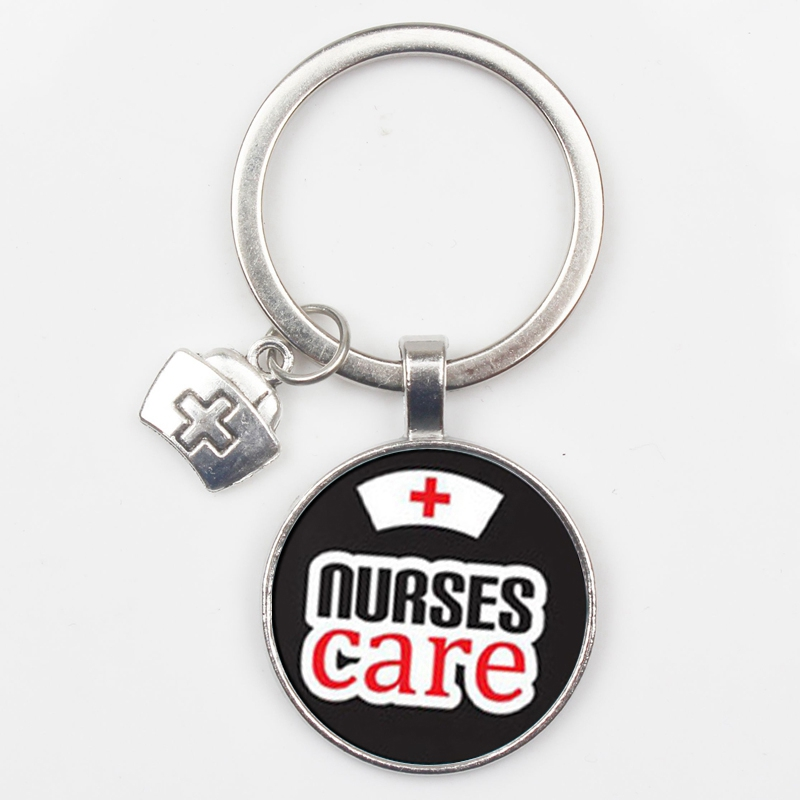 Fashion beautiful angel call bell pattern badge keyring mini medical model best nurse day keychain medical school graduate gift in Key Chains from Jewelry Accessories