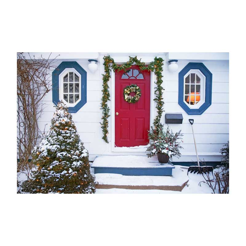 Horizontal vinyl print white Christmas decoration house photography backdrops for family photo studio portrait background ST-445 plastic standing human skeleton life size for horror hunted house halloween decoration