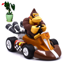 13 cm Anime Super Mario Bros Kart Pull Back Car Donkey Kong PVC Action Figure Doll Collectible Model Baby Toy Christmas Gift [funny] original box 28cm game over watch azrael black death reaper ripper action figure collectible model doll toy kids gift