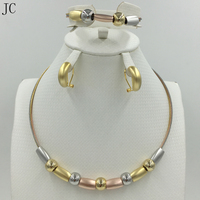 New High Quality Dubai Jewelry Set Rose Silver 18K Real Gold Plated Nigerian Wedding African Jewelry