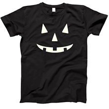 Jack O' Lantern Halloween Pumkin Costume T-Shirts Glow In The Dark 100% Cotton Short Sleeve O-Neck Tops Tee T Shirts Plus Size jackall dartrun yonesty o glow