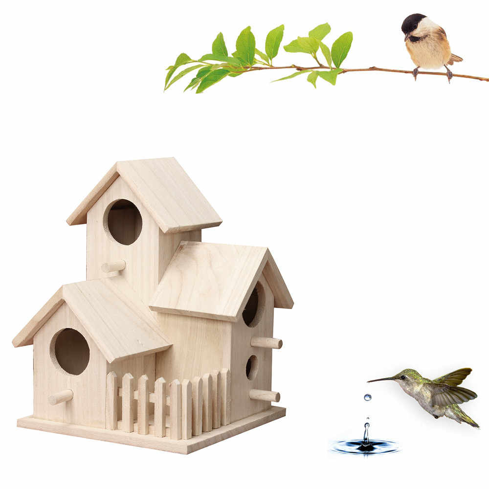 Gorgeous Creative BIRD House Nest ติดผนังไม้กลางแจ้ง Bird Nest Birdhouse ไม้กล่อง BIRD CAGE Parrot CAGE Casa pajaro