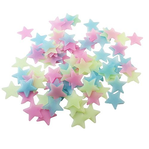 100pcs DIY Wall Decals Glow Stars Luminous Fluorescent Wall Stickers for Kids Room-Free Shipping For Kids Rooms