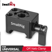 SmallRig Quick Release Nato Clamp Mount with Arri 3/8Hole for Articulating Magic Arm / Arri Locating Handle Grip Attach 2207