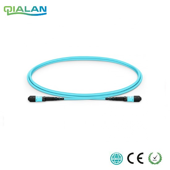 1m MPO Fiber Patch Cable OM3 UPC jumper Female to Female 24 Cores Patch Cord multimode Trunk Cable Type A Type B Type C in Fiber Optic Equipments from Cellphones Telecommunications