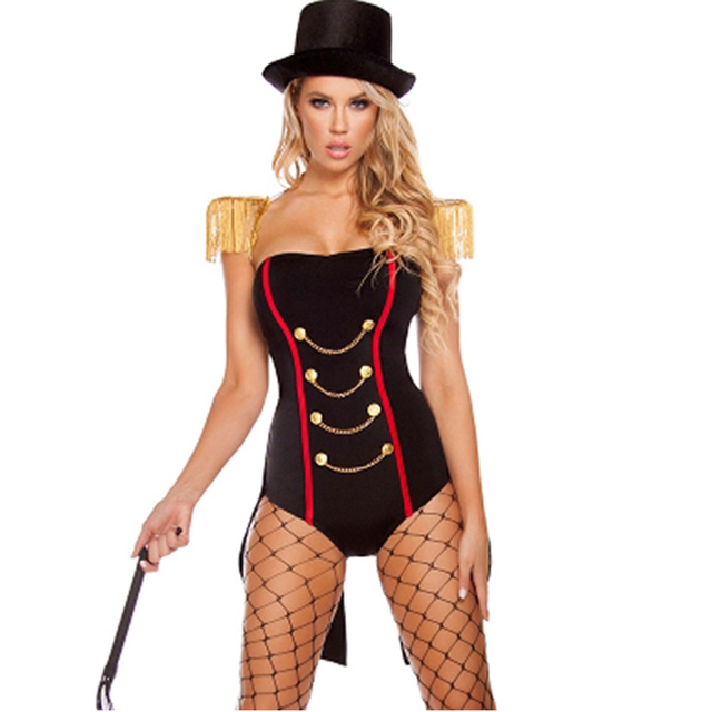 fb4af011640 Roma Costume Women s 4 Piece Ravishing Ringleader Circus Costumes For Women  Halloween Sexy Fancy Erotic Bodysuits Cosplay