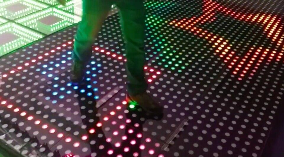 1 pz lotto nuova fase led pista da ballo interattiva porcellana