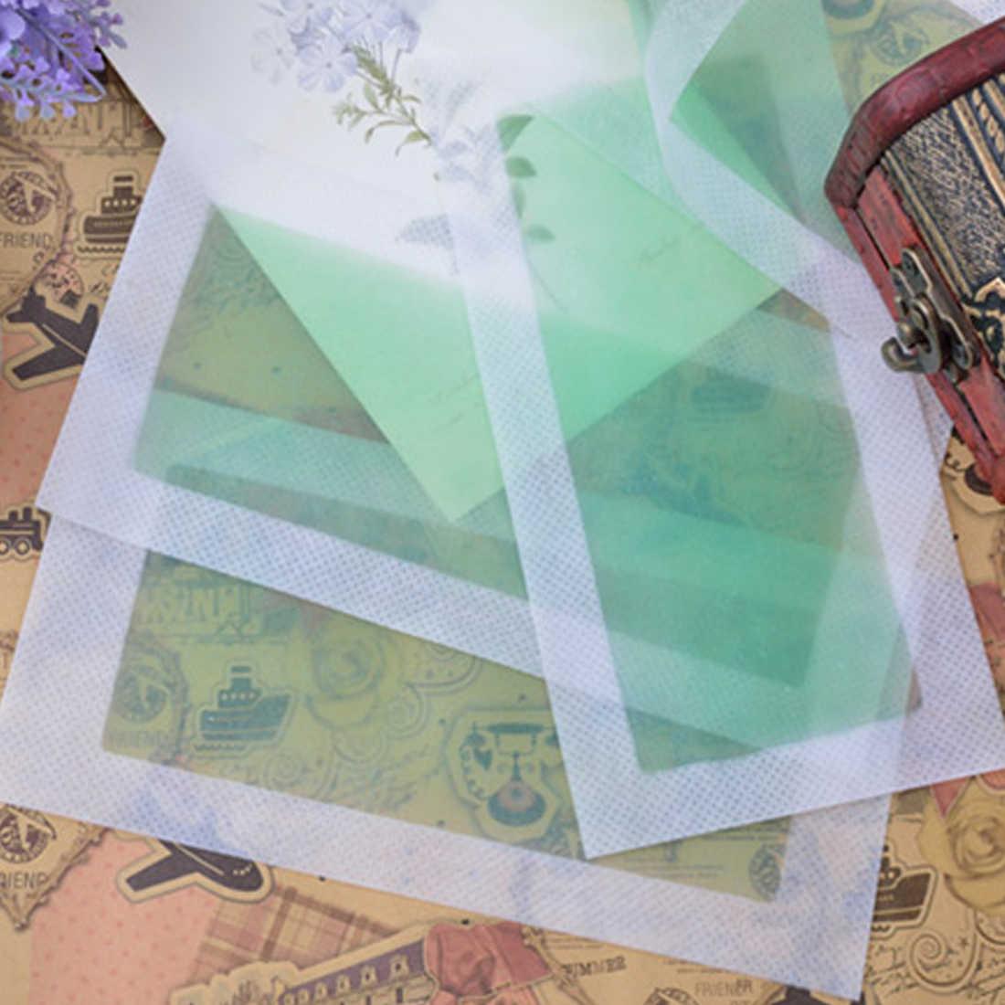 Yeni 10 adet 5 yaprak Yeşil Saç Kaldırma Çift Taraflı Soğuk balmumu şerit Kağıtları Bacak Vücut Yüz Ağda Nonwoven Tüy Dökücü sökücü