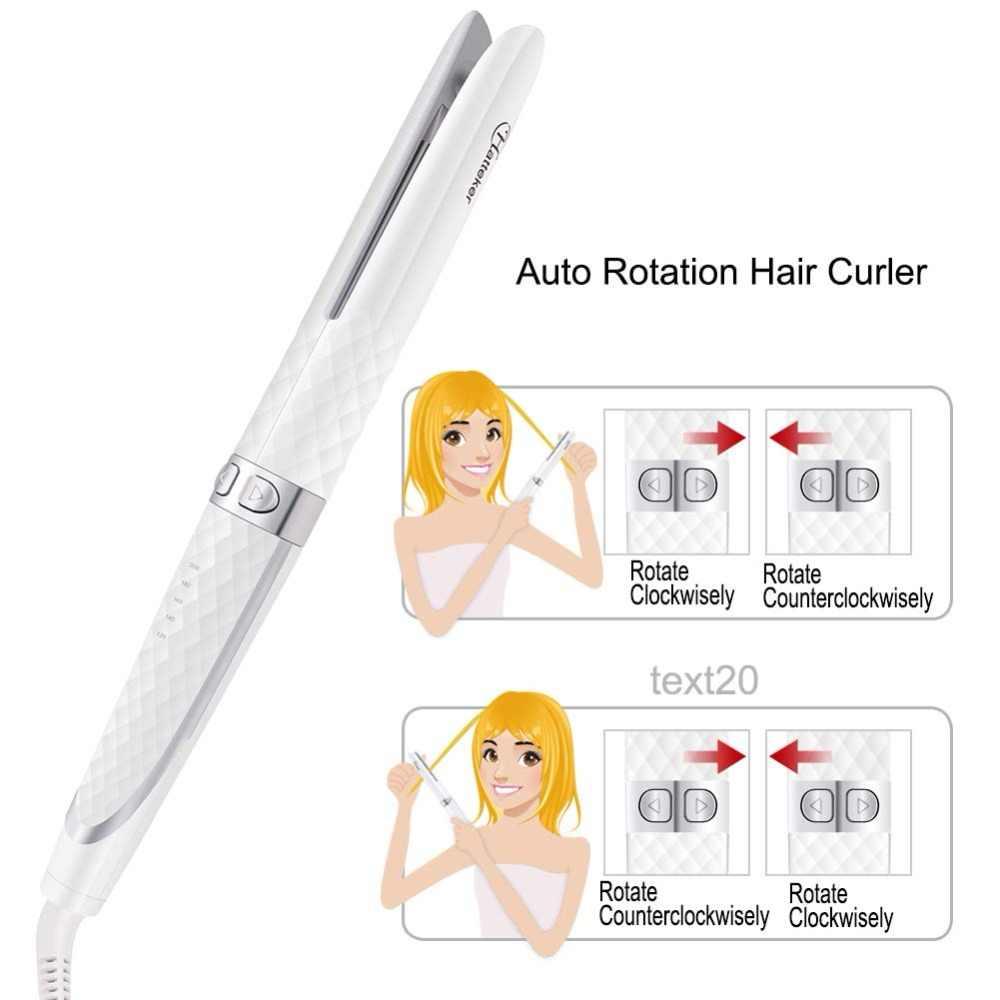 โรตารี่อัตโนมัติ Curling Iron hair curler แหนบ wave 33 มม.จัดแต่งทรงผม Straightener ผม styler เครื่องมือลูกฟูก modeler inverter