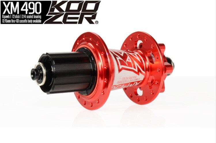 Nouveau moyeu arrière Koozer XM490 vtt VTT 12 142mm 135mm à travers XD 11 vitesses 32 trous 4 moyeux de frein à roulement scellés le vélo à disque