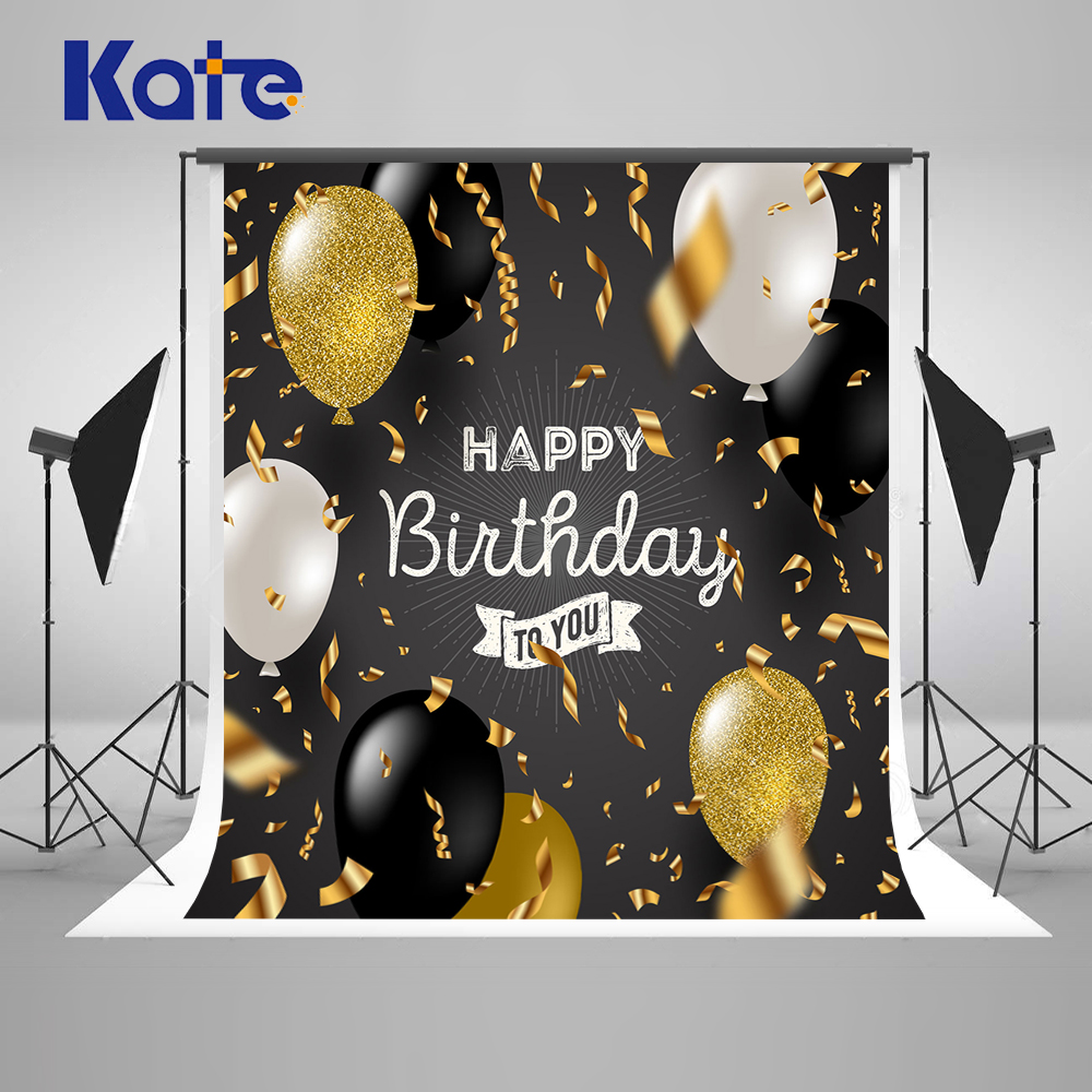 Kate 10ft enfants anniversaire Photo toile de fond ballons arrière-plans Photo Studio scène Photo Studio arrière-plans pour bébé fête