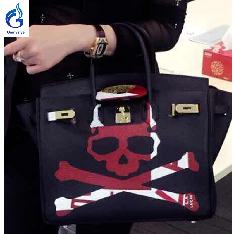 Rock skull Graffiti Custom bags handbags Women luxury Bags Hand Painted painting Graffiti totes Female blose women leather bags rock skull graffiti custom bags handbags women luxury bags hand painted painting graffiti totes female blose women leather bags
