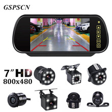 hot deal buy gspscn car 7inch monitor full touch screen rearview mirror monitors with waterproof upgrade led night vision rear view camera
