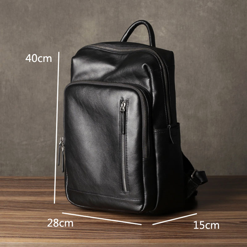 Image 4 - AETOO Leather mens shoulder bag first layer leather travel bag fashion trend bag casual business computer bagBackpacks   -