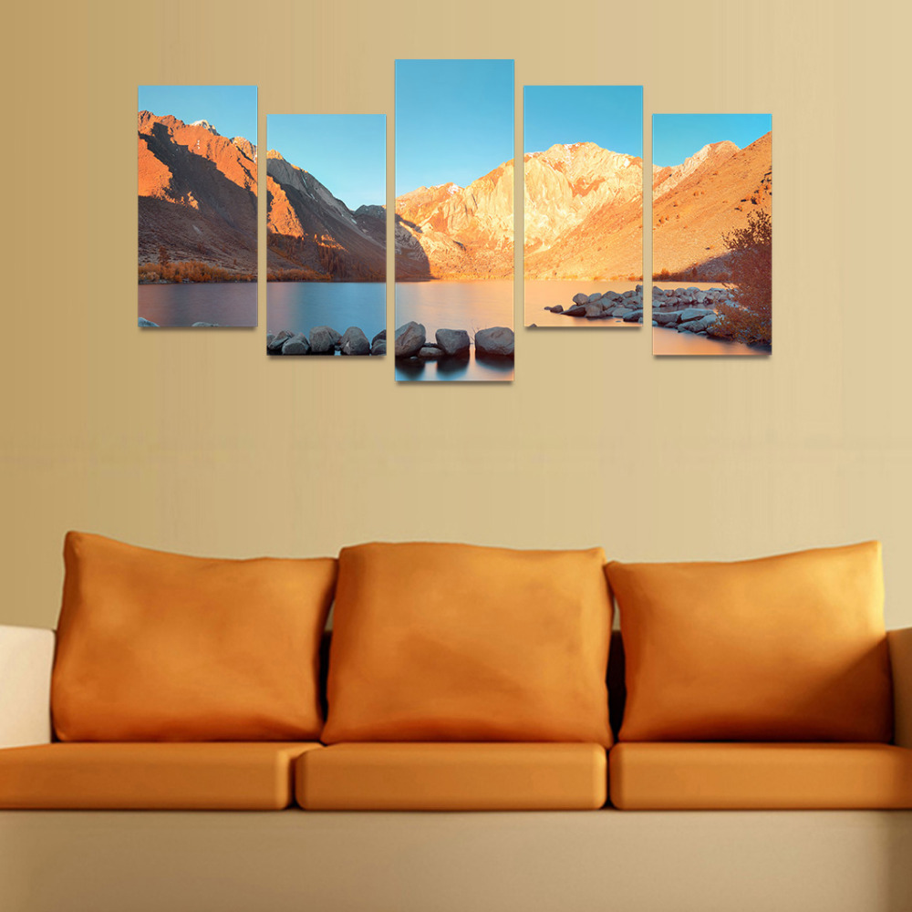 HD Picture Canvas Yellow Earth Mountain Picture Gift Painting Wall ...