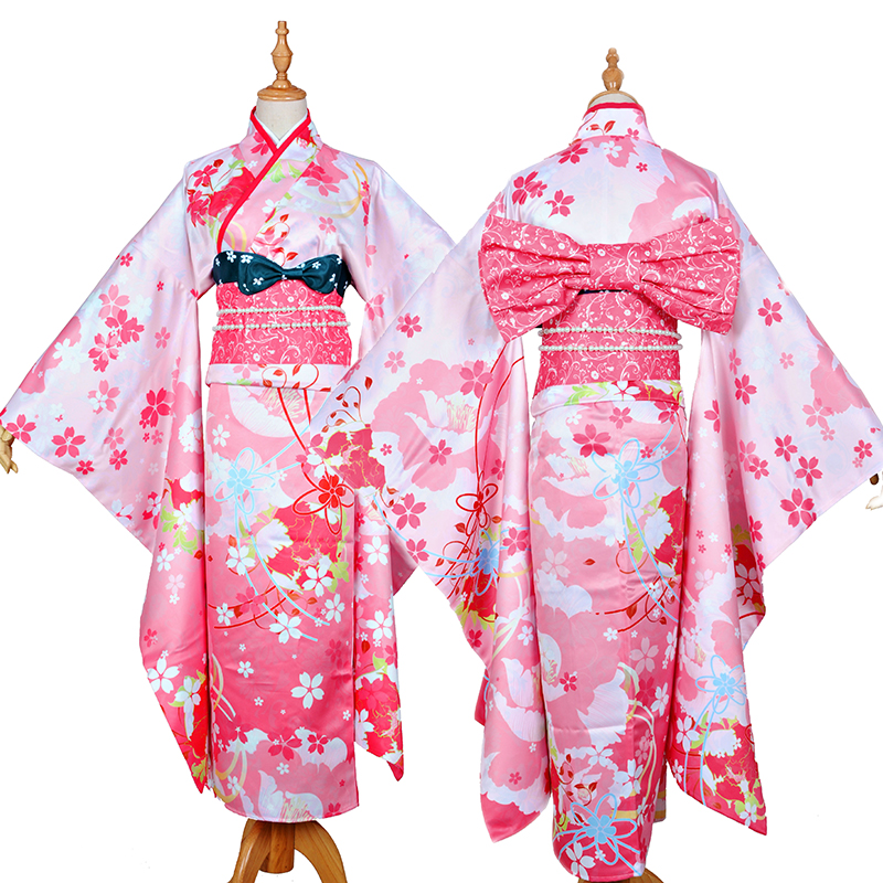 love live YAZAWA NICO cosplay costume new year Halloween anime Japanese Kimono dress cloth Nico Yazawa costumes free shi ...