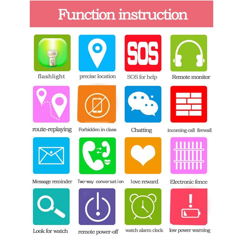 MOCRUX Q528 reloj inteligente niños chico reloj SOS localizador GSM rastreador Anti-perdido seguro Smartwatch Niño para iOS android