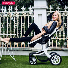 Baby Stroller High Landscape pram Four Wheel Baby Trolley Folded Two-way Poussette Bebek Arabas Kinderwagen Bebe Baby Carriage