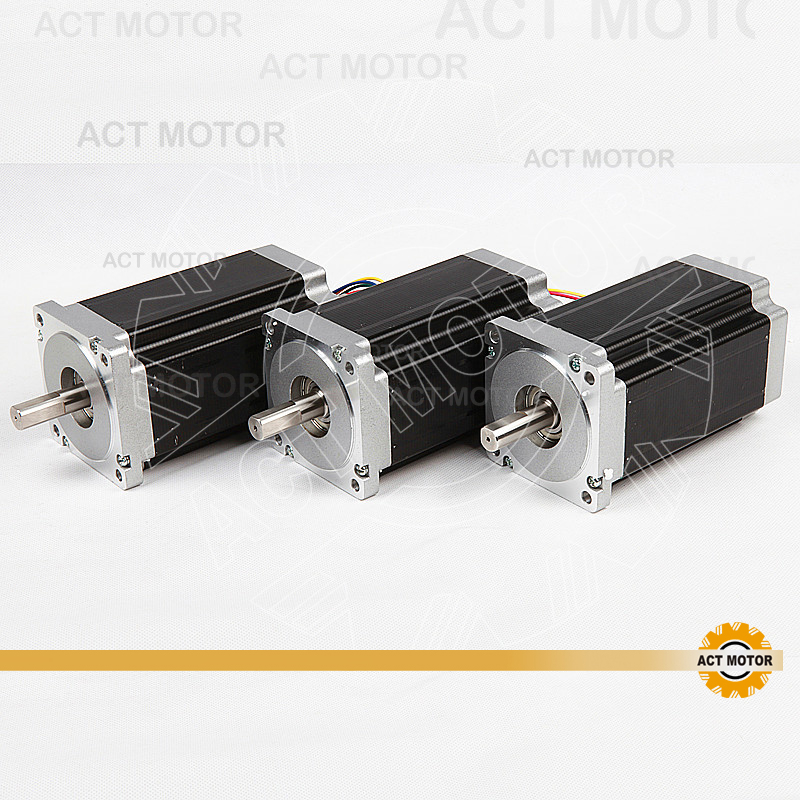 ACT 3PCS Nema34 Stepper Motor 34HS5460 Single Shaft 1700oz-in 151mm 6A High Current&Low Inductance & Fast Speed Powerful MotorACT 3PCS Nema34 Stepper Motor 34HS5460 Single Shaft 1700oz-in 151mm 6A High Current&Low Inductance & Fast Speed Powerful Motor