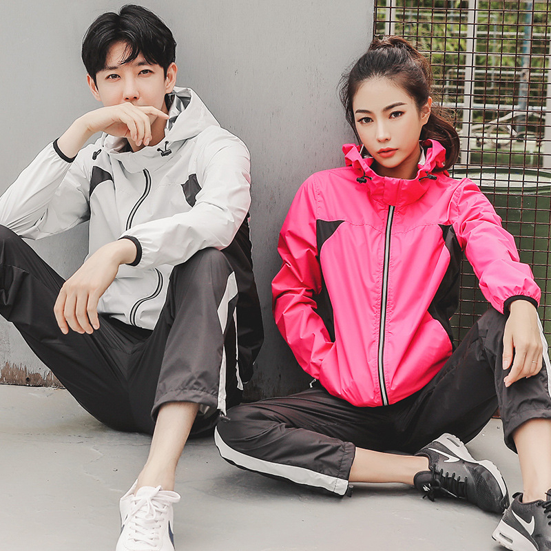 Running Hot Sale Running Suits Women Men Sportswear Sweat Boost Sauna Sets Jacket Pants Gym Wear Autumn Winter Loose Weight Warm Lock Sport Suits