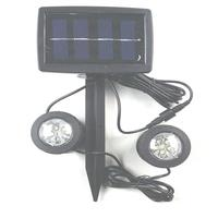 Solar Powered Underwater lights Lawn Garden Courtyard Plug Lamparas Solares Exterior 1 Solar Panel 2 Bulbs 12LEDS Pool Pond Lamp