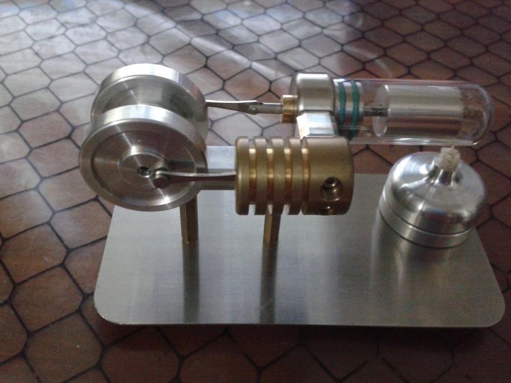 Hot Air Moteur Stirling Éducation Toy Electricity Power Générateur TC (TC006)