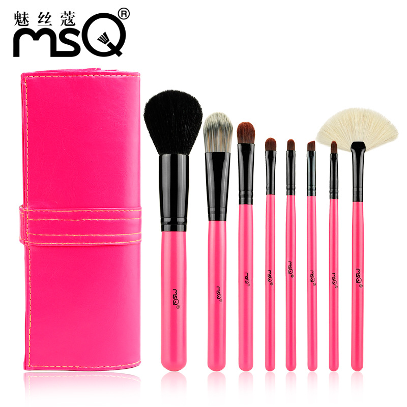 8Pcs/Set Makeup Brushes Women Goat Hair Foundation Cosmetic Powder Multi-function Toiletry Brushes Make Up Brushing Kits Bag Hot multi function oiler sauce wine bottle pourer plugs set 8 pcs