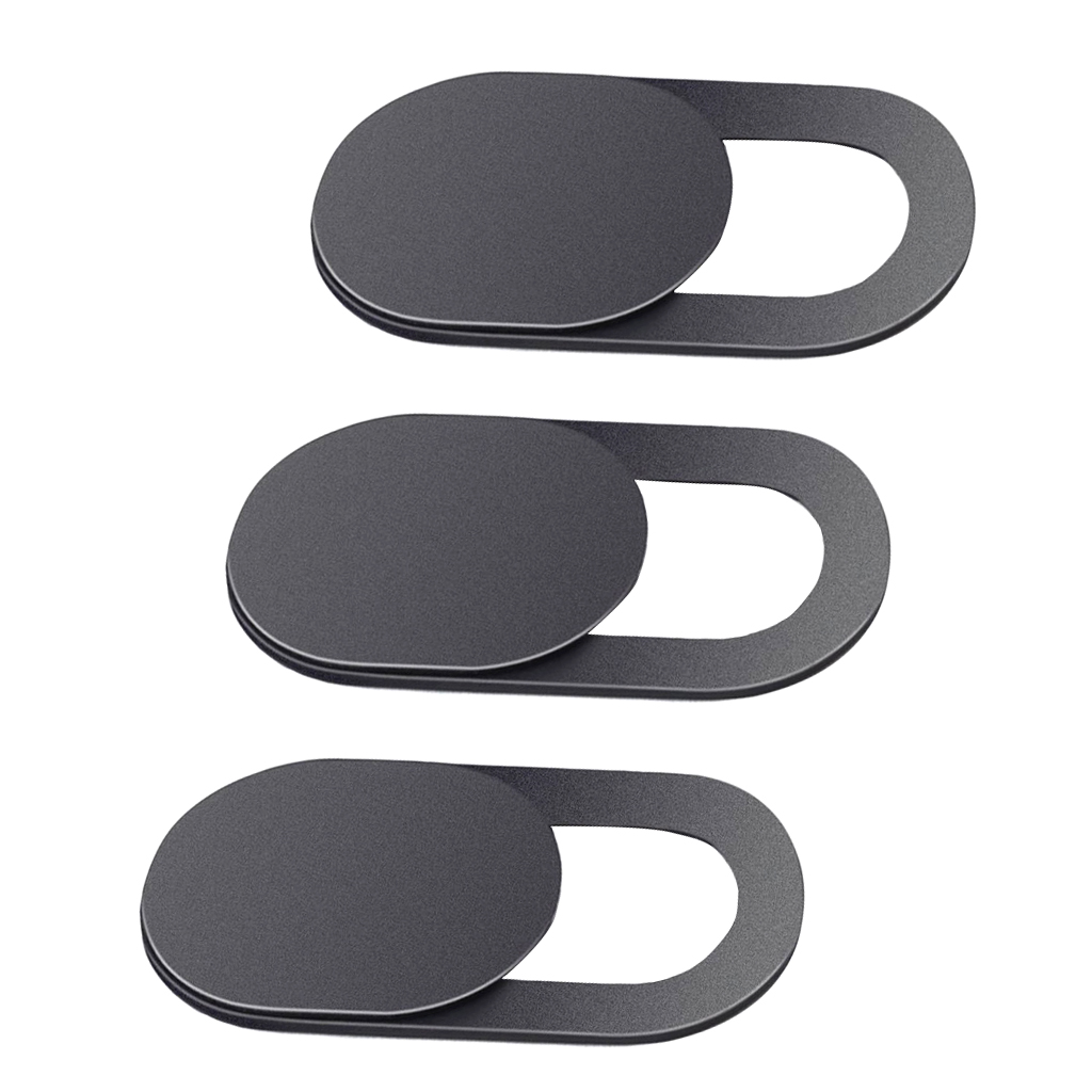 3 Pack Webcam Cover-Camera Shutter Magnet Slider Sticker For IPhone Samsung Laptop Tablet T1 Black Universal PC Laptops