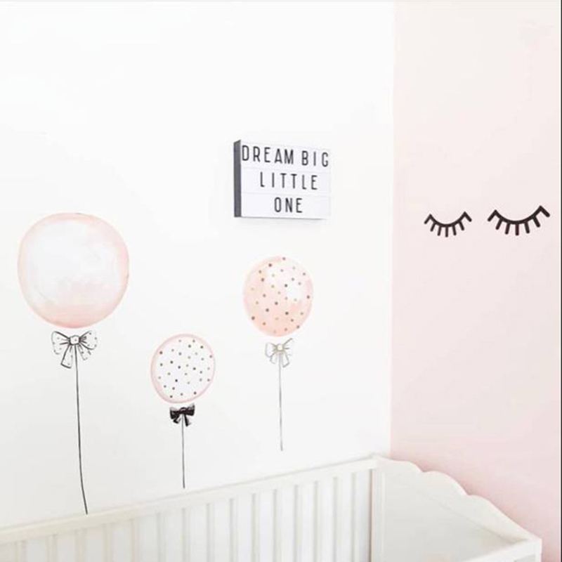 Children's Room Cartoon Balloon Wall Stickers Kindergarten Birthday Party Cute Background Wall Stickers Decor Shooting Props