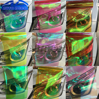 10 rolls/Lot Chameleon Car Headlight Film Taillight Protection Tinting Film 3 Layers Motorcycle Scooter Light Color Decal Change