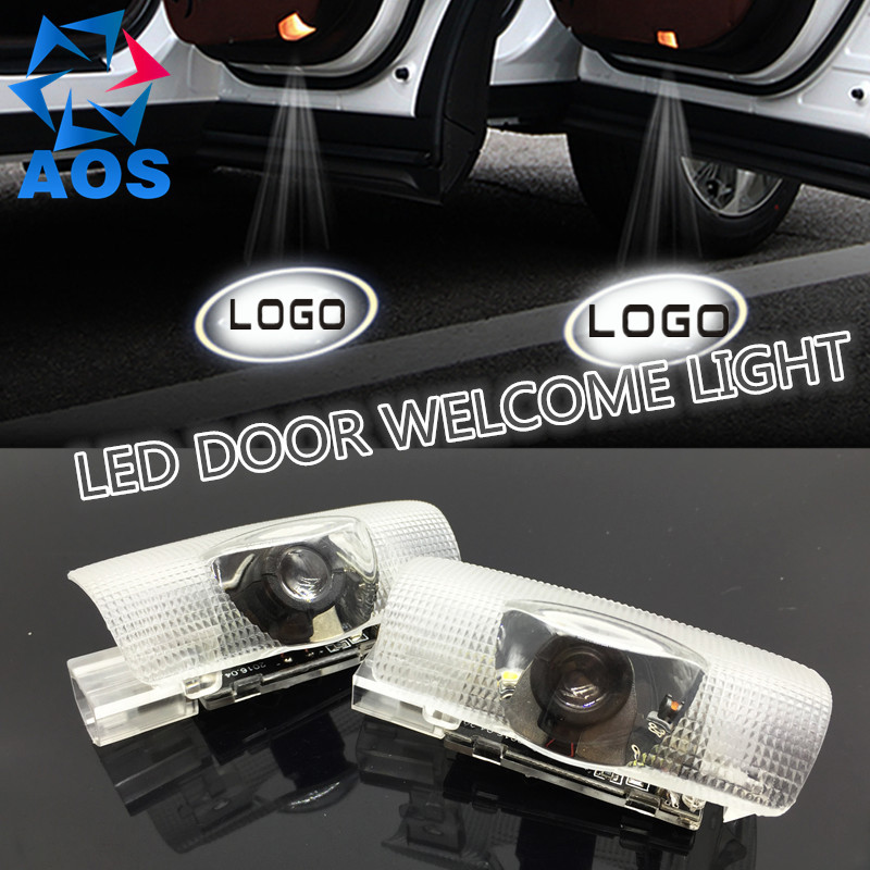 2PCs/set LED Car Door Welcome Light Attractive Logo Shadow Light For TOYOTA CAMRY COROLLA HIGHLANDER REIZ CROWN 2x led car door welcome light for toyota corolla emblem logo projector lamp for toyota corolla spoiler estate levin coupe saloon