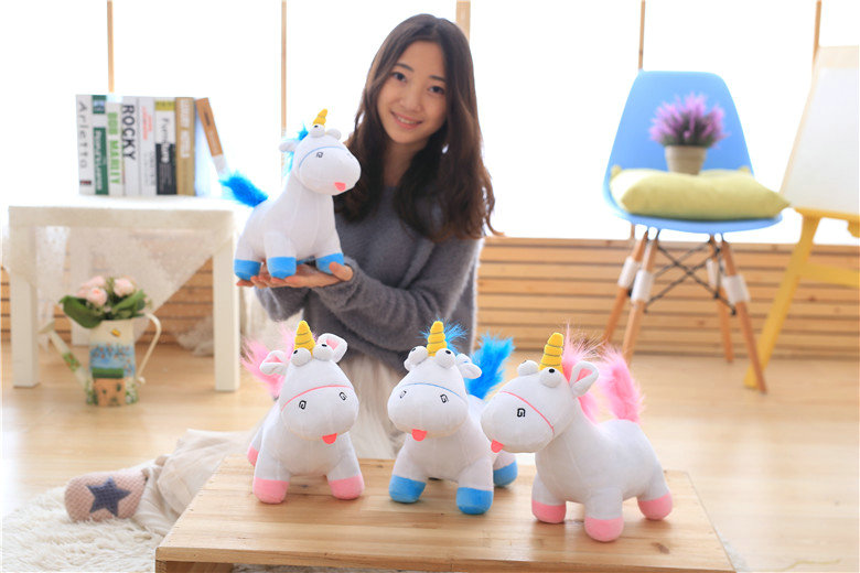 HTB18SmkSXXXXXcSXFXXq6xXFXXXf - Cute pink/blue stuffed PP Cotton Horse doll Christmas present kids doll baby plush toys 30cm Cartoon plush Unicorn toys VOTEE