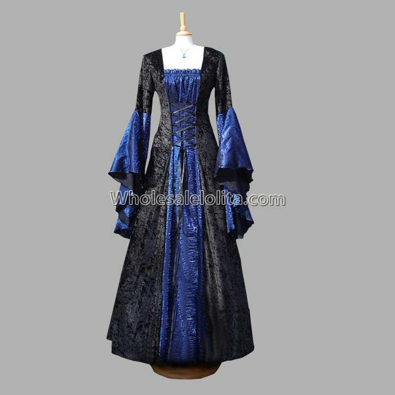 Top vente géorgienne médiévale période velours robe Vintage Pertty gothique Costumes